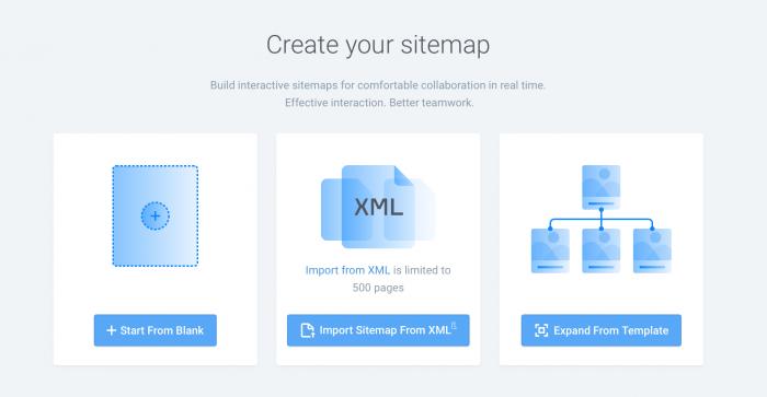 Create sitemap template