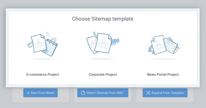 Choose sitemap template