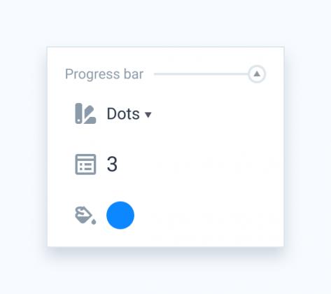 Progress bar section