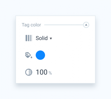 Tag color section